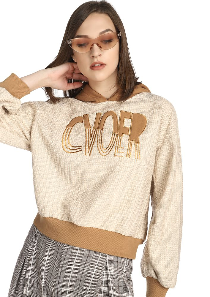 COVER IT BABEH BEIGE SWEATSHIRT