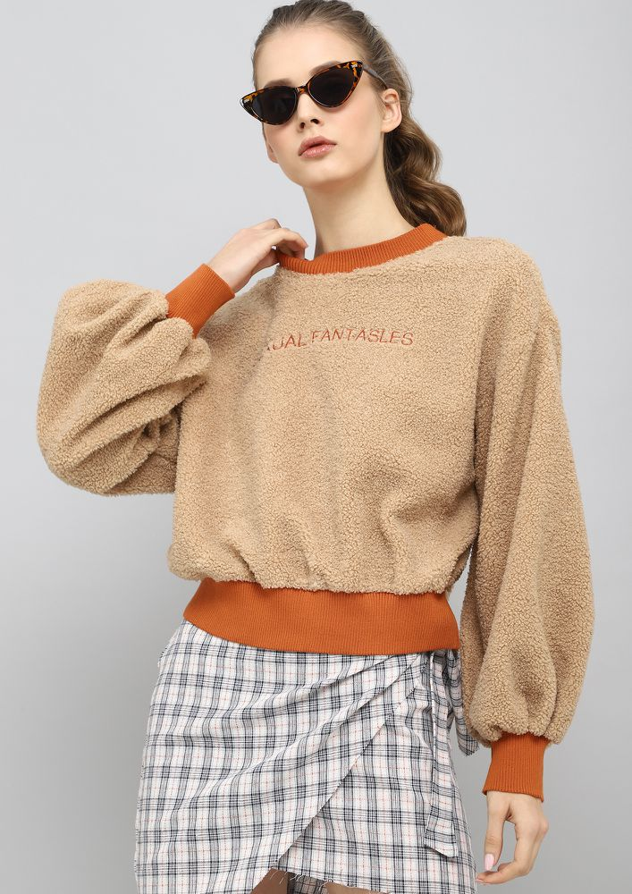 Girl Next Door Dark Beige Sweatshirt