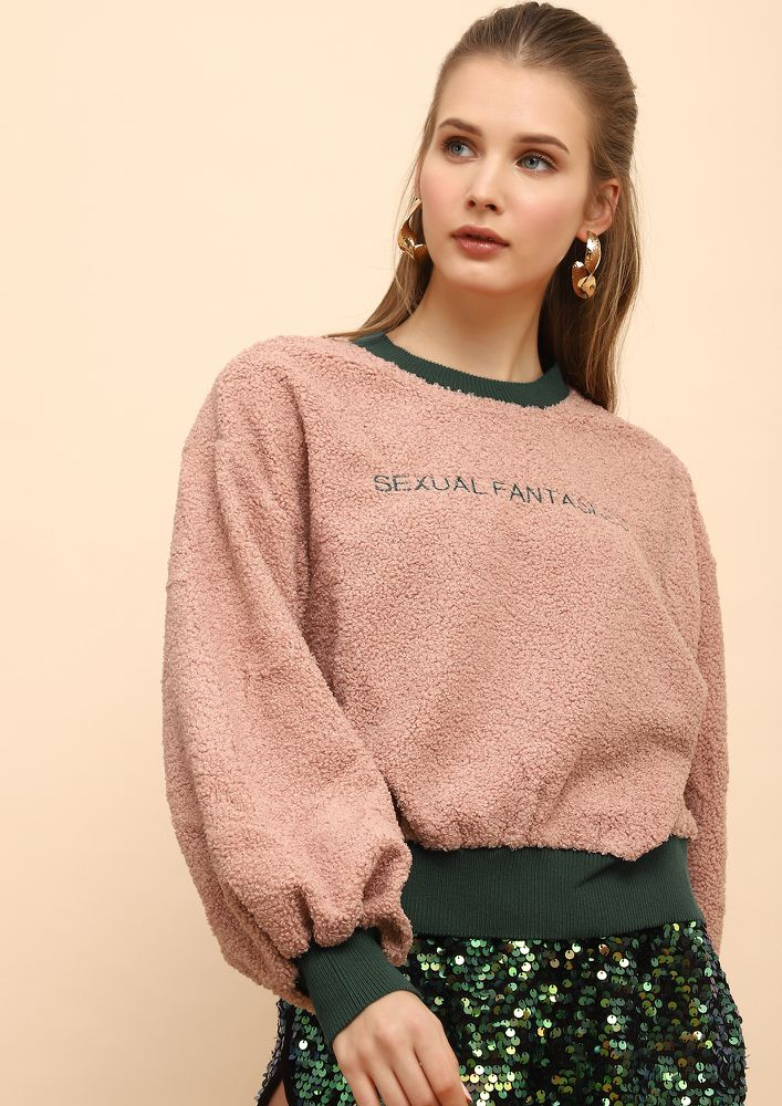 GIRL NEXT DOOR PINK SWEATSHIRT