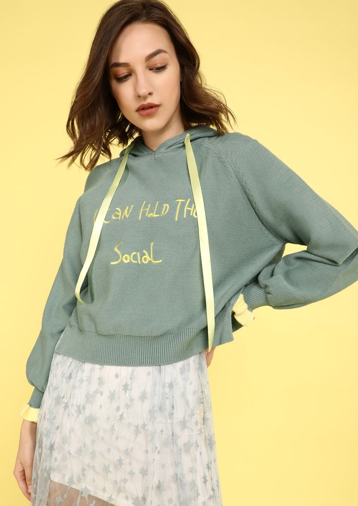 DREAMING OF YOU GREEN SWEATSHIRT