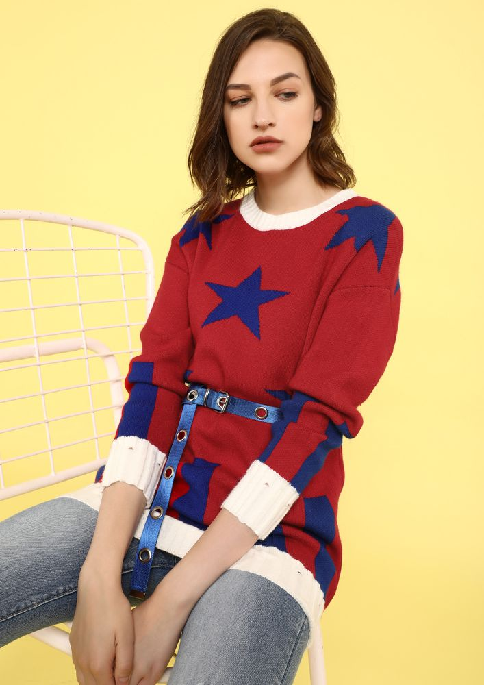 STAR BY ME RED JUMPER
