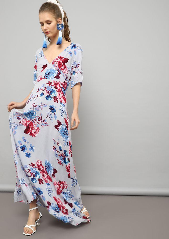 FLOWING WITH THE WIND PASTEL BLUE MAXI DRESS