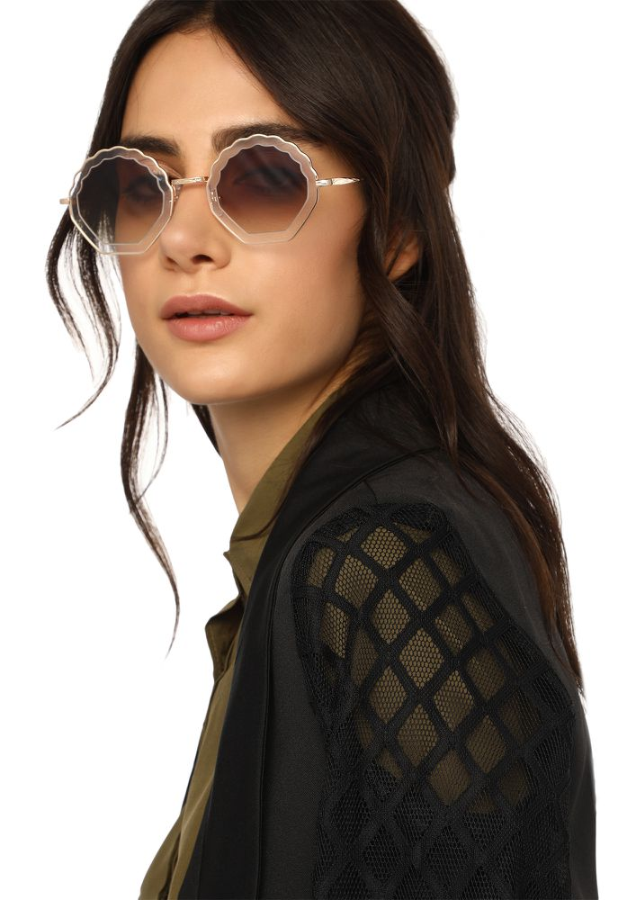 ROUGH EDGES GREYTETRO SUNGLASSES