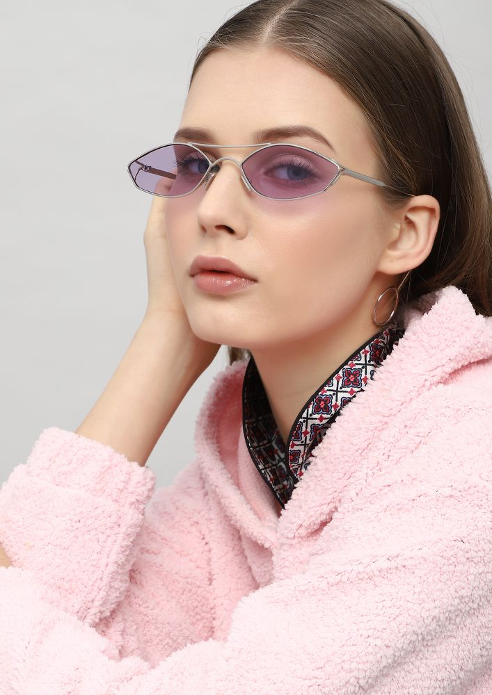 OH SO MINIMALISTIC PURPLE RETRO SUNGLASSES