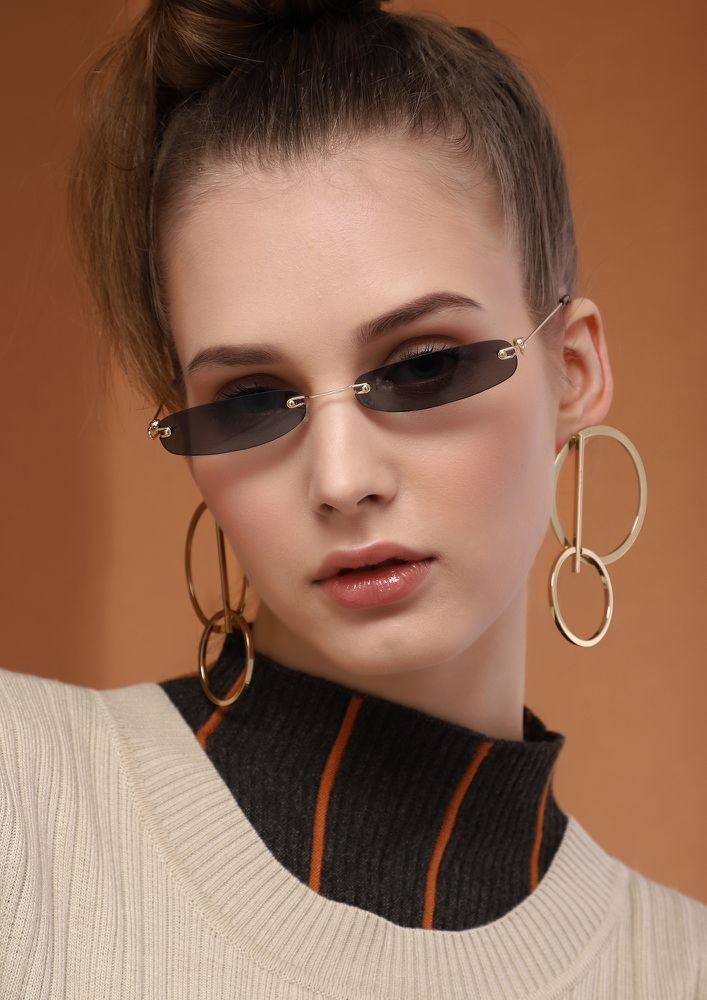 THE WORLD OF MATRIX TEA BROWN RETRO SUNGLASSES