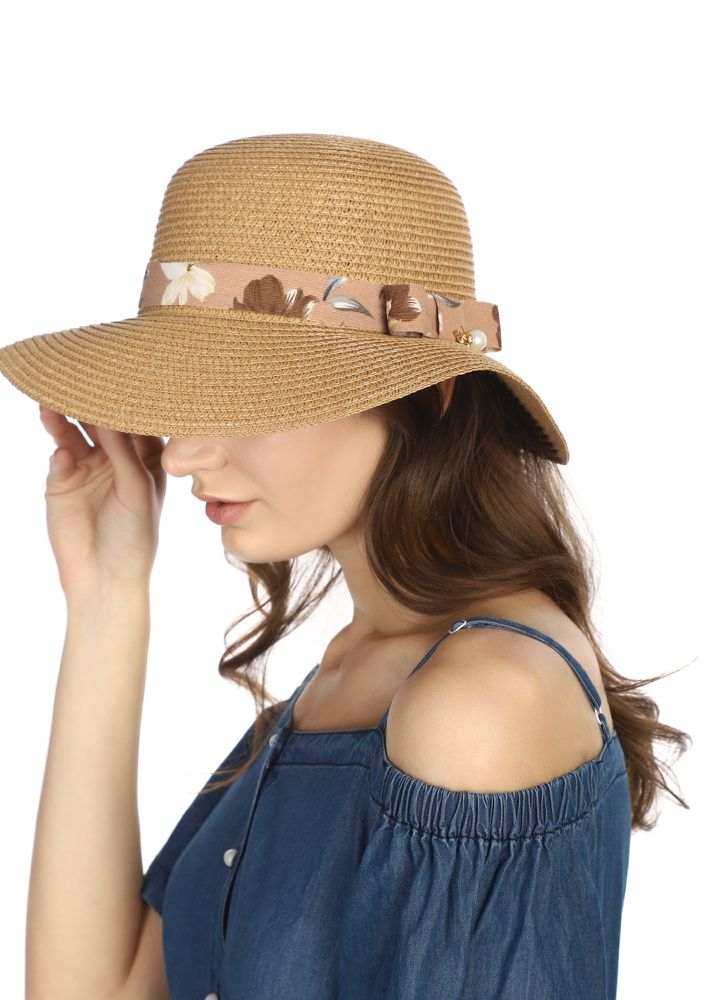SAND AND SHORES BROWN STRAW HAT