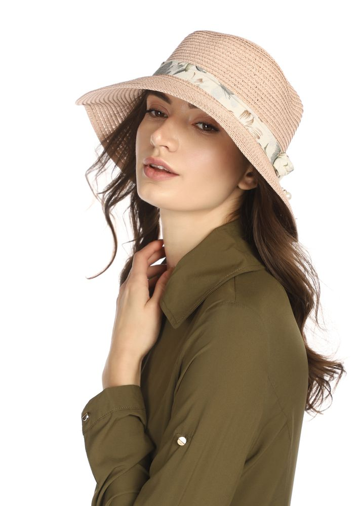SAND AND SHORES PINK STRAW HAT