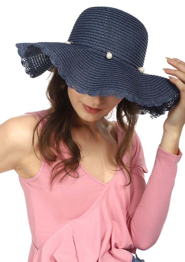 HELLO GIRL NAVY FLOPPY HAT
