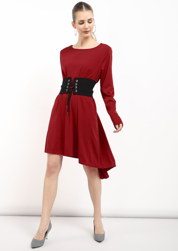 IN EVERY POSSIBLE SITUATION WINE ASYMMETRICAL DRESS