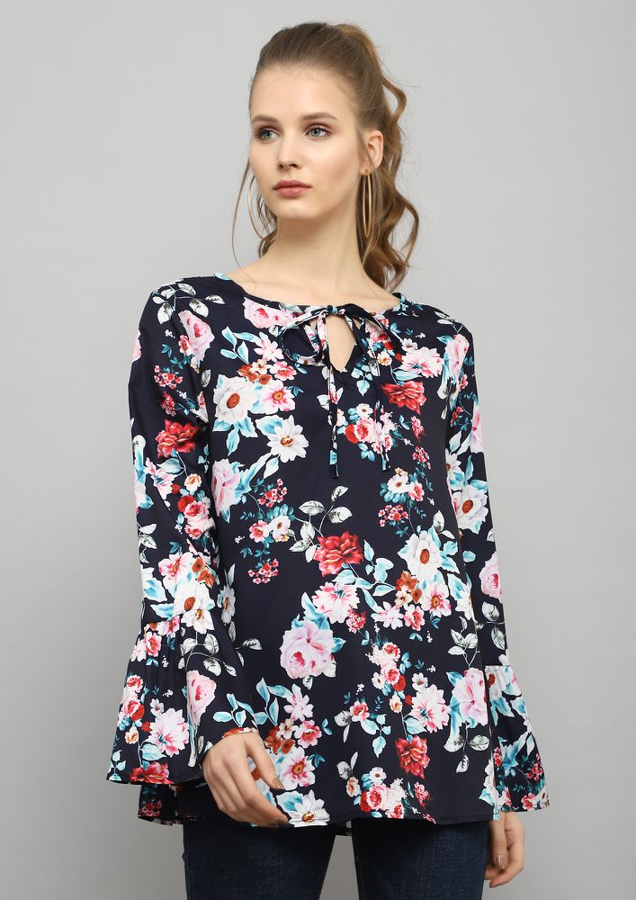 FLORAL TWIST MULTICOLOR TOP