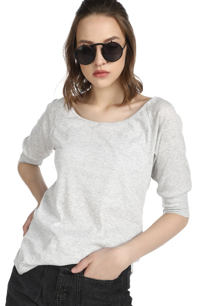LIL TOO RELAXED GREY TUNIC T-SHIRT
