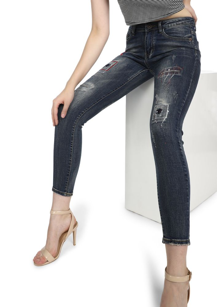 BEYONF MY STYLE BLUE SKINNY JEANS