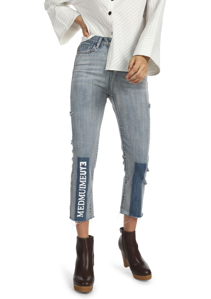 OH-SO HIGH-STREET LIGHT BLUE CROPPED JEANS