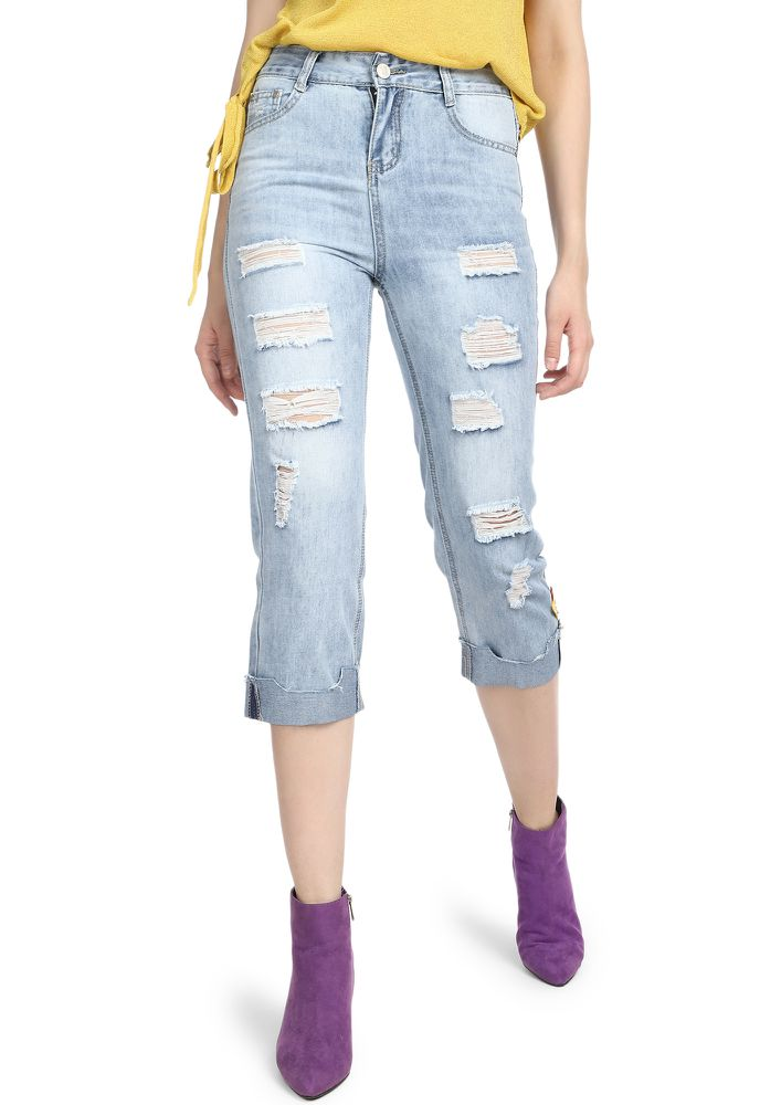 BORROWED FROM BOYS LIGHT BLUE CROPPED JEANS
