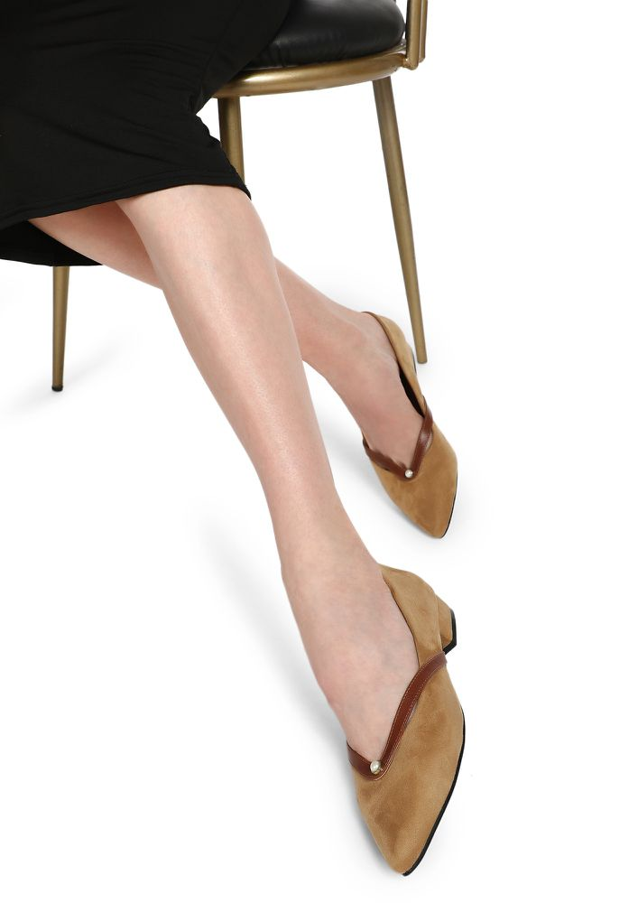 OFFICE HOURS BROWN BALLET FLATS