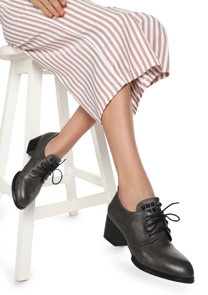 HIGH VOLTAGE GREY HEELED SHOES