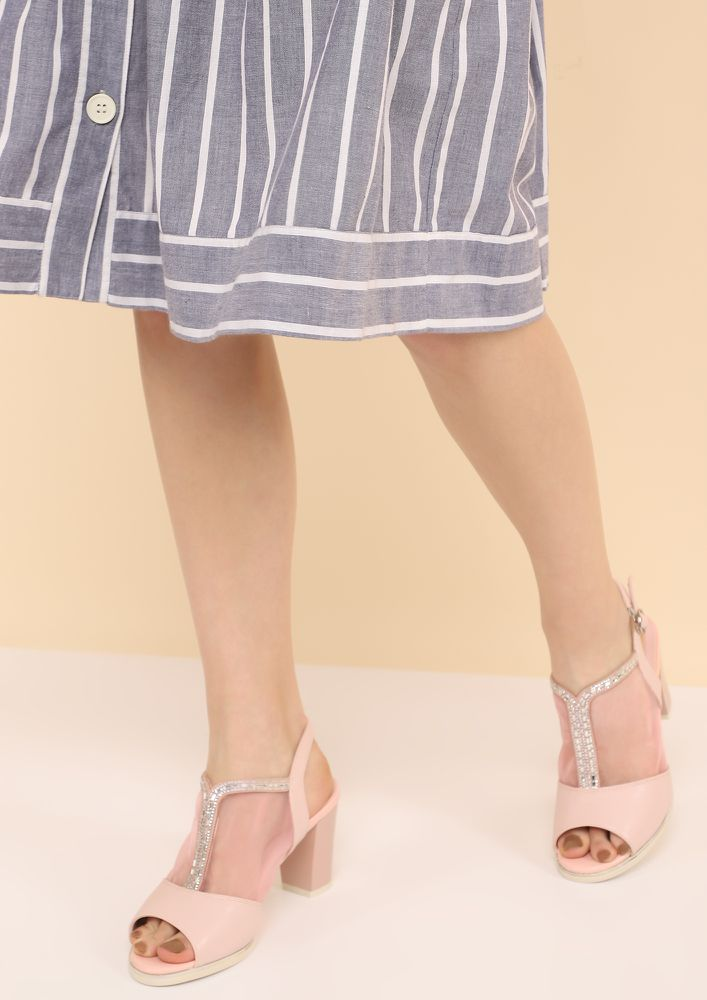 PRETTY IN PINK HEELED SANDALS