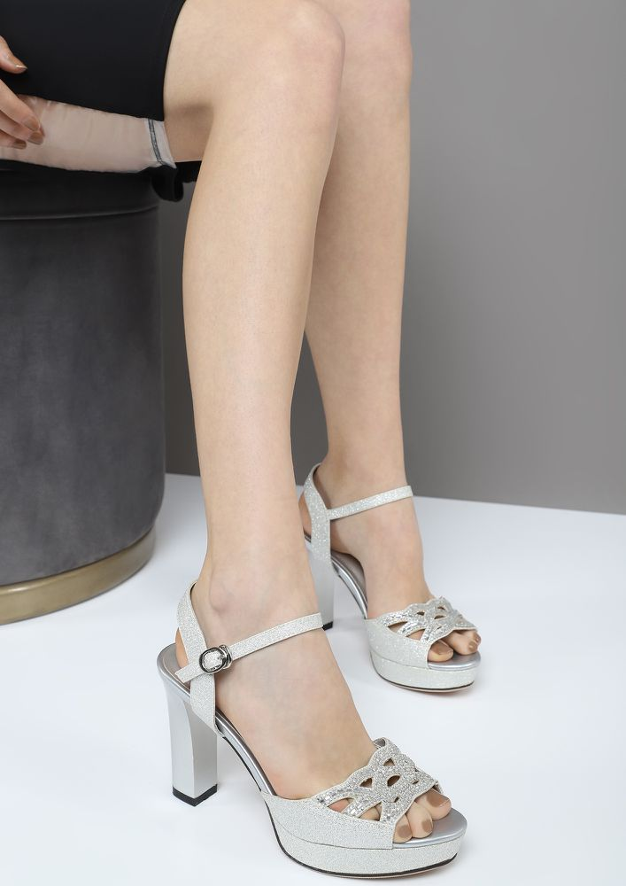 PARTY ALL NIGHT SILVER HEELS