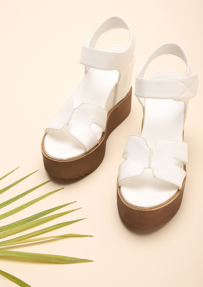 WALKING THROUGH TIME WHITE WEDGES