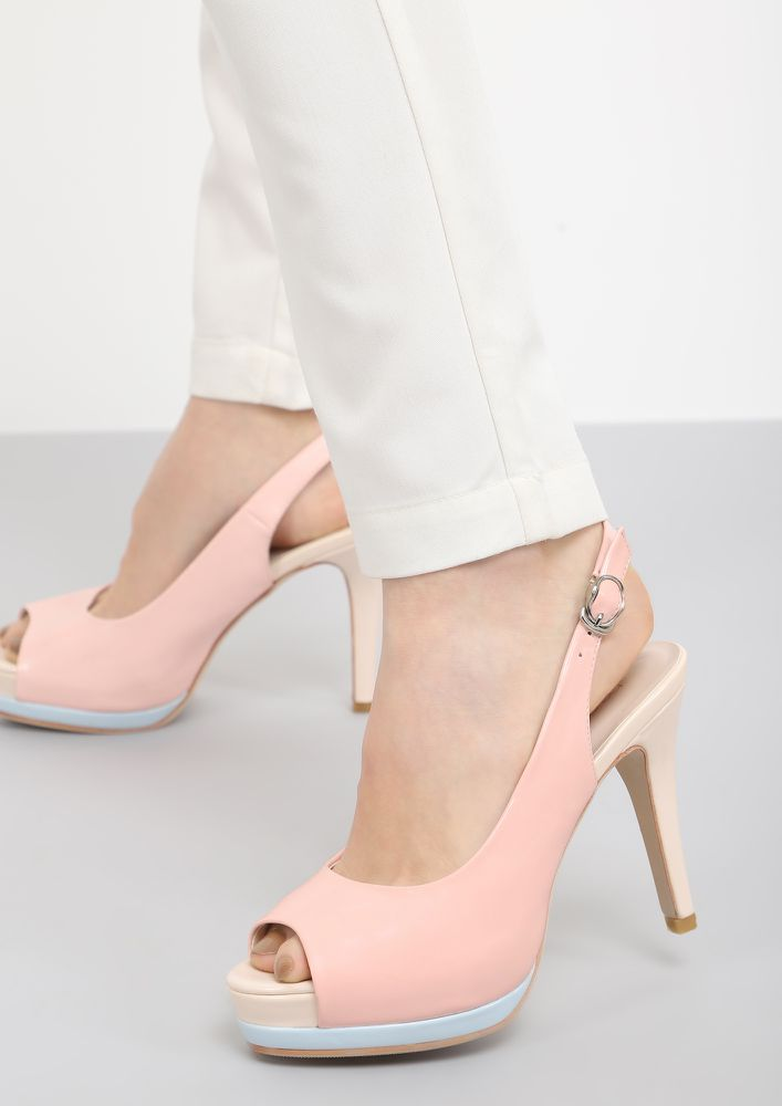PEEPING OVER PEEP-TOE HEELS
