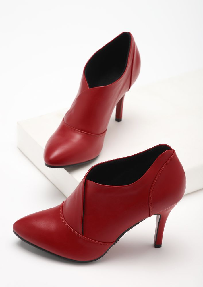 SASSY FOR THE GRAM RED HEELED SHOES