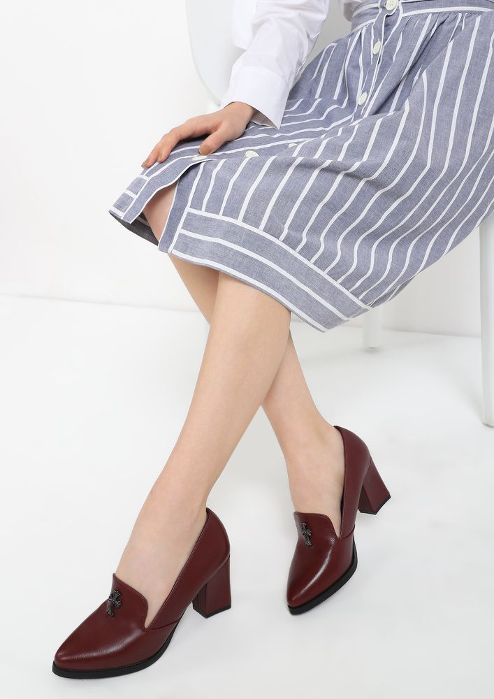 THE CULT OF WINE HEELED PUMP SHOES