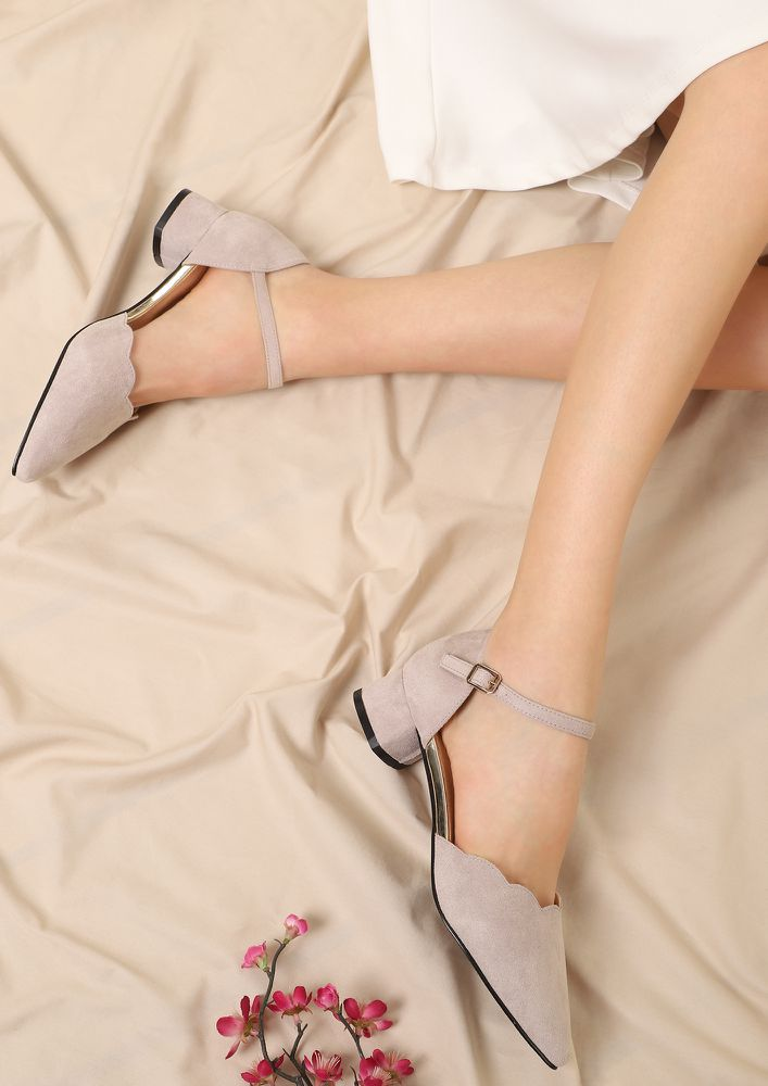 KEEPING IT SUBTLE GREY PUMPS