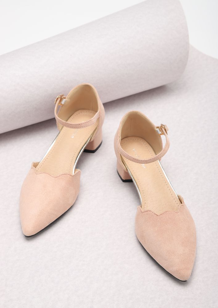 KEEPING IT SUBTLE PASTEL PINK PUMPS