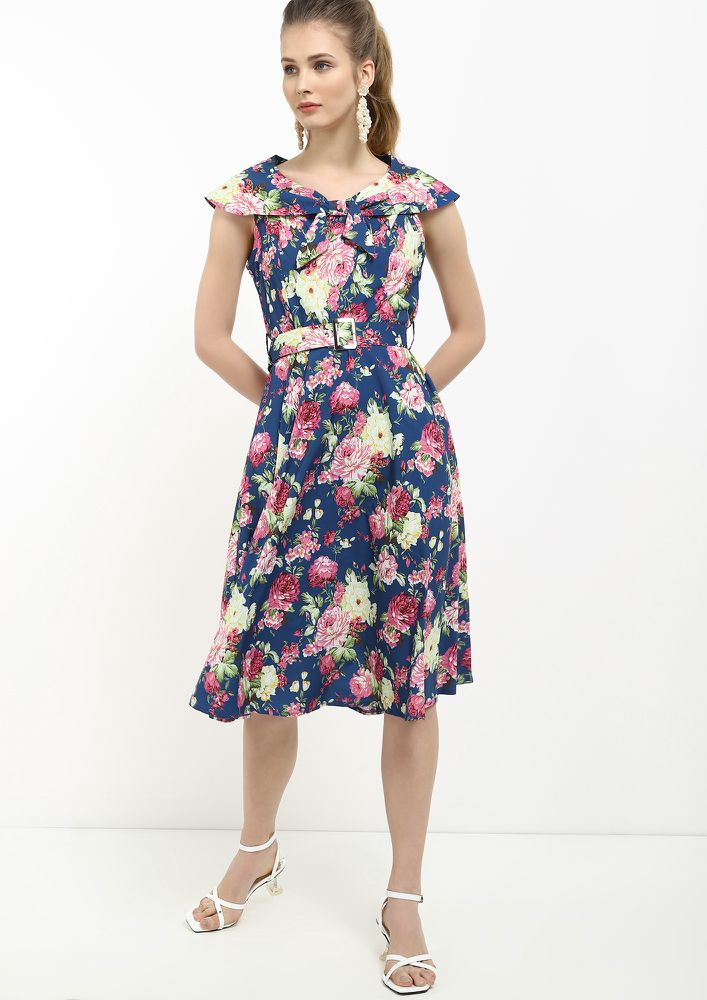 PRETTY BUNCH BLUE MIDI DRESS