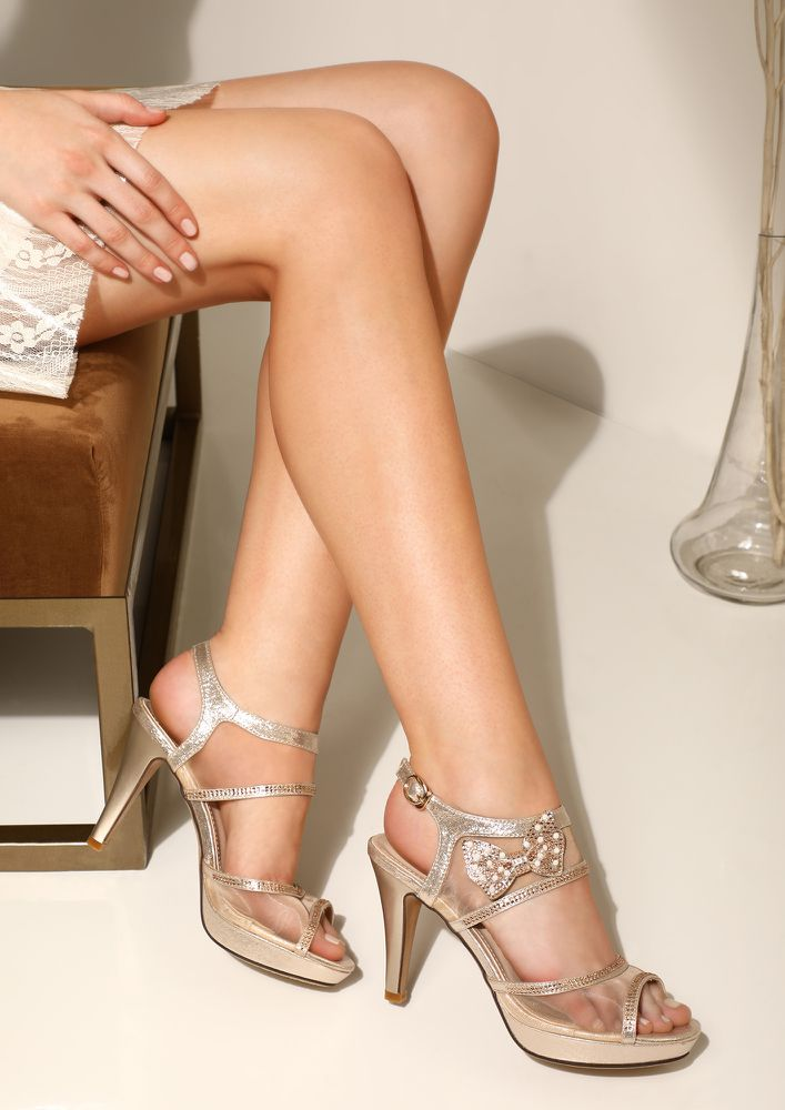 DRIZZLE LOVE GOLDEN HEELED SANDALS