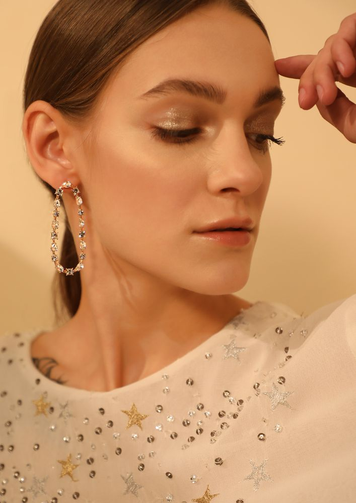 GOSS BABE LAST CAHNCE SILVER STUDDED EARRINGS
