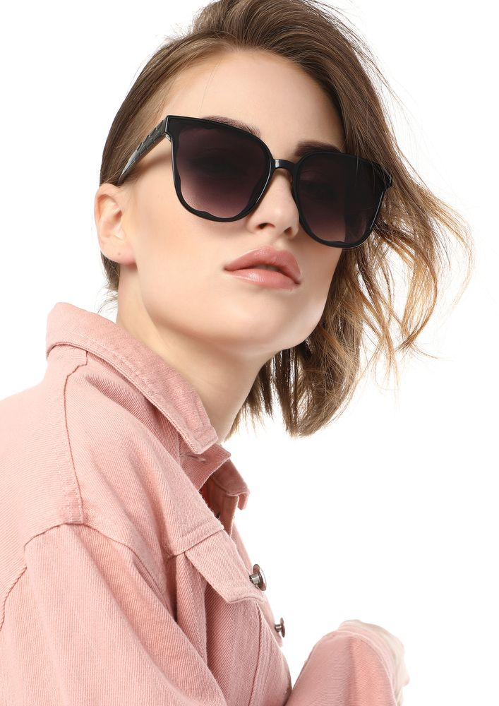 MY EYES ARE FOR YOU BLACK SQUARE SUNGLASSES
