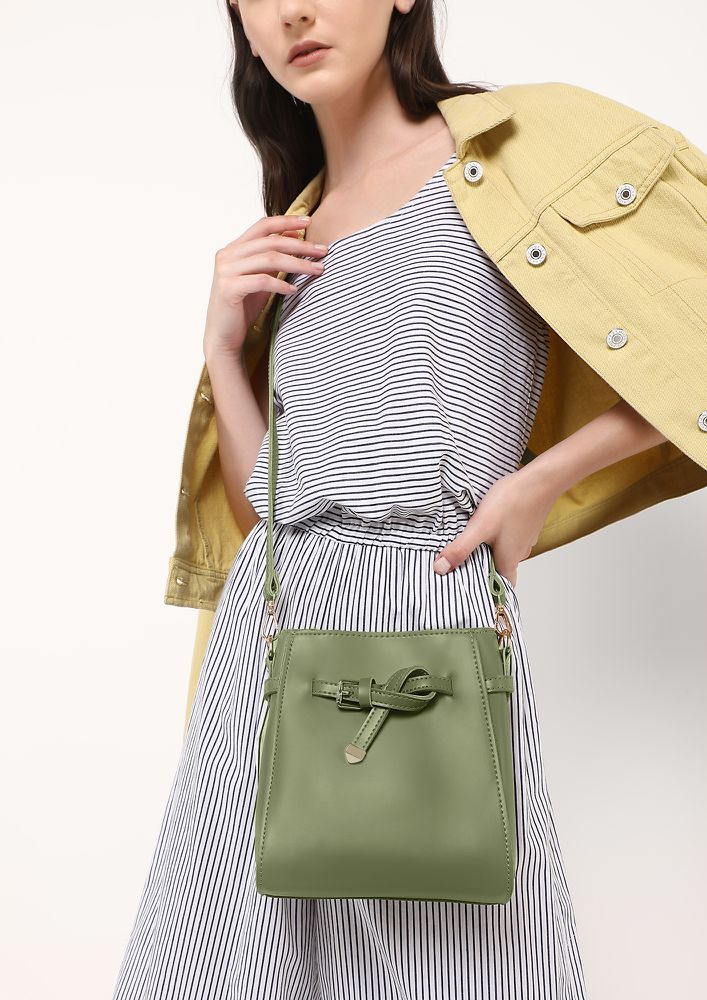 ON THE KNOT PASTEL GREEN CROSSBODY BAG