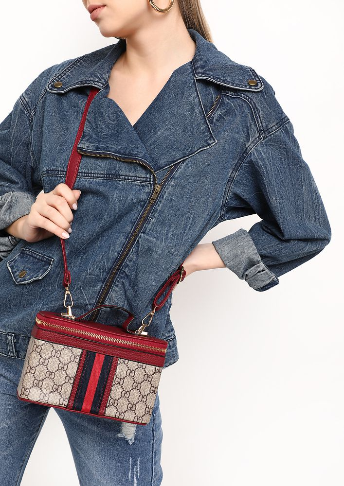 PACK YOUR STUFF RED SLING BAG