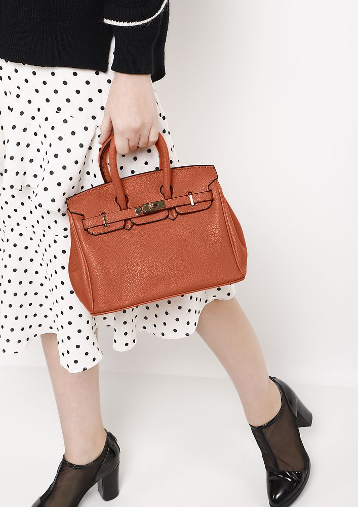 GIRL BOSS ORANGE HANDBAG