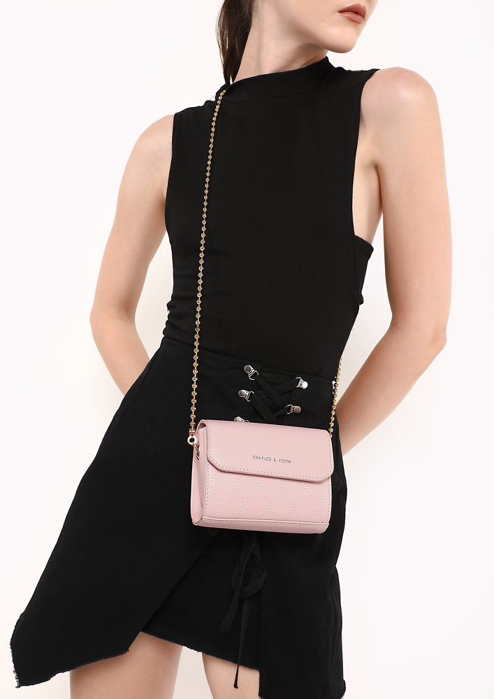 WHAT HEART WANTS PINK SLING BAG