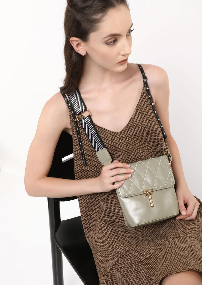 GIVING YOU A CLOSURE PASTEL GREEN SLING BAG