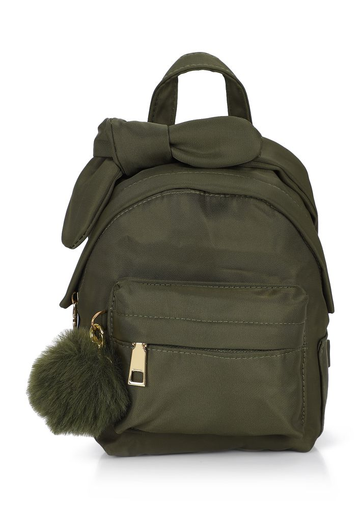 LET'S VACAY NOW OLIVE GREEN BACKPACK