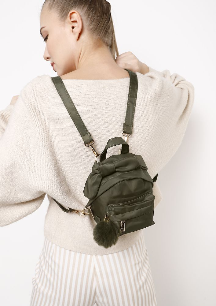 VACAY ON MY MIND OLIVE GREEN BACKPACK