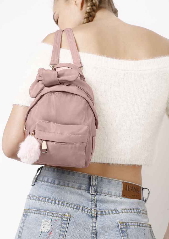 VACAY ON MY MIND OLIVE PINK BACKPACK