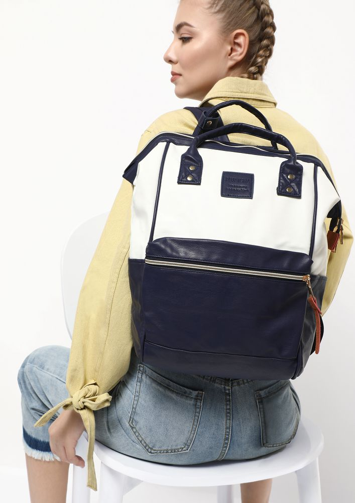 LETS GO ON A HIKE WHITE BACKPACK