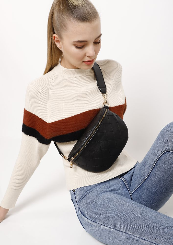 HOLD YOUR OWN BLACK FANNY PACK