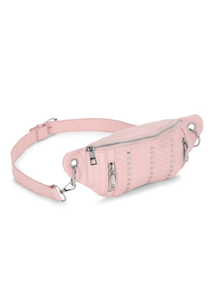 STUD YOUR GROUND PINK FANNY PACK