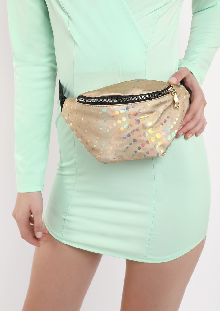 ALL THE SHINE LOVE GOLD FANNY PACK