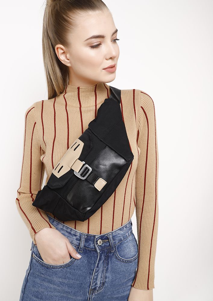 HOOKED ON YOU BLACK FANNY PACK