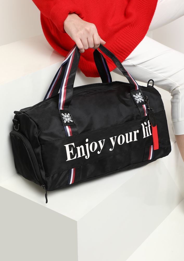 HUSTLE EVERYDAY BLACK DUFFLE BAG