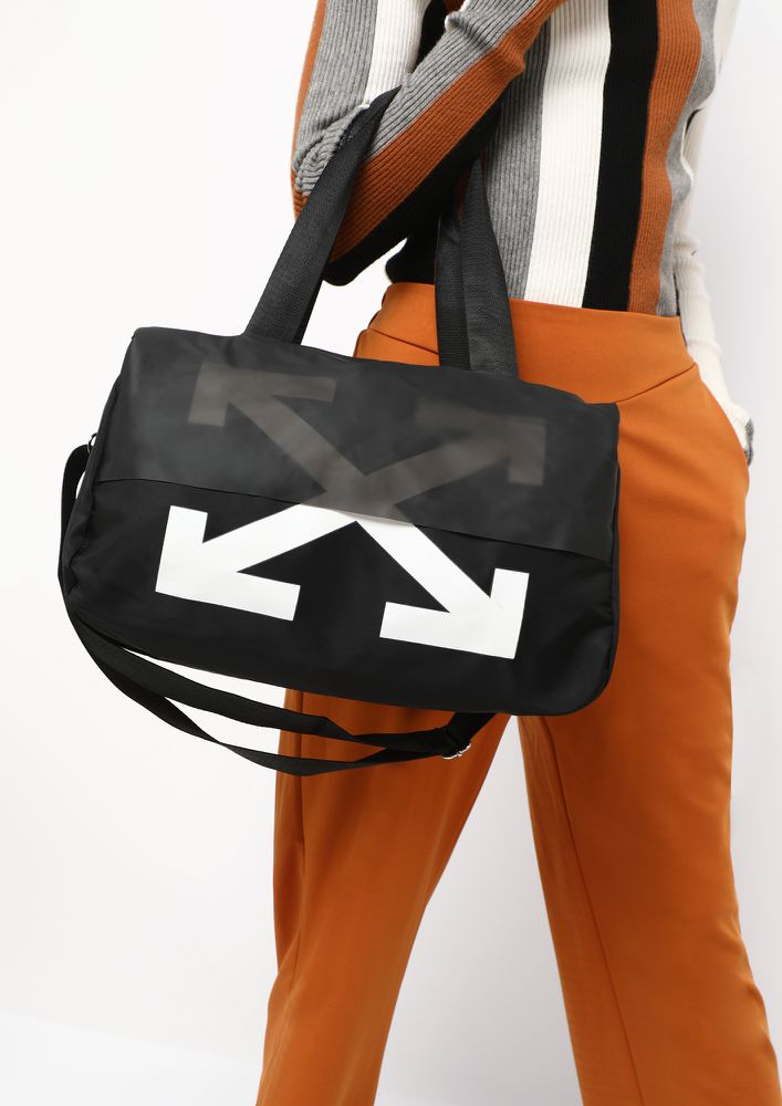 ALWAYS AT CROSSROADS BLACK DUFFLE BAG
