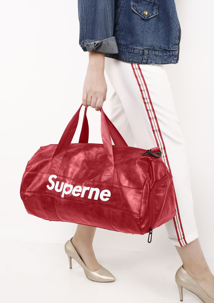 SWEAT IT OUT RED DUFFLE BAG