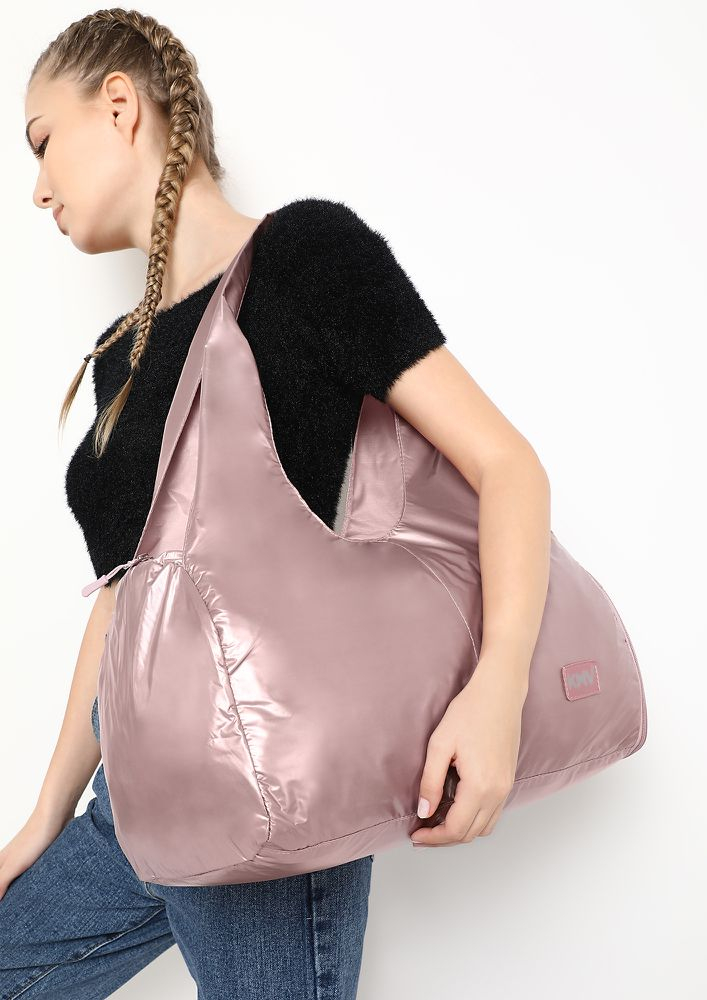THATS WHAT I LIKE PINK HOBO DUFFLE BAG