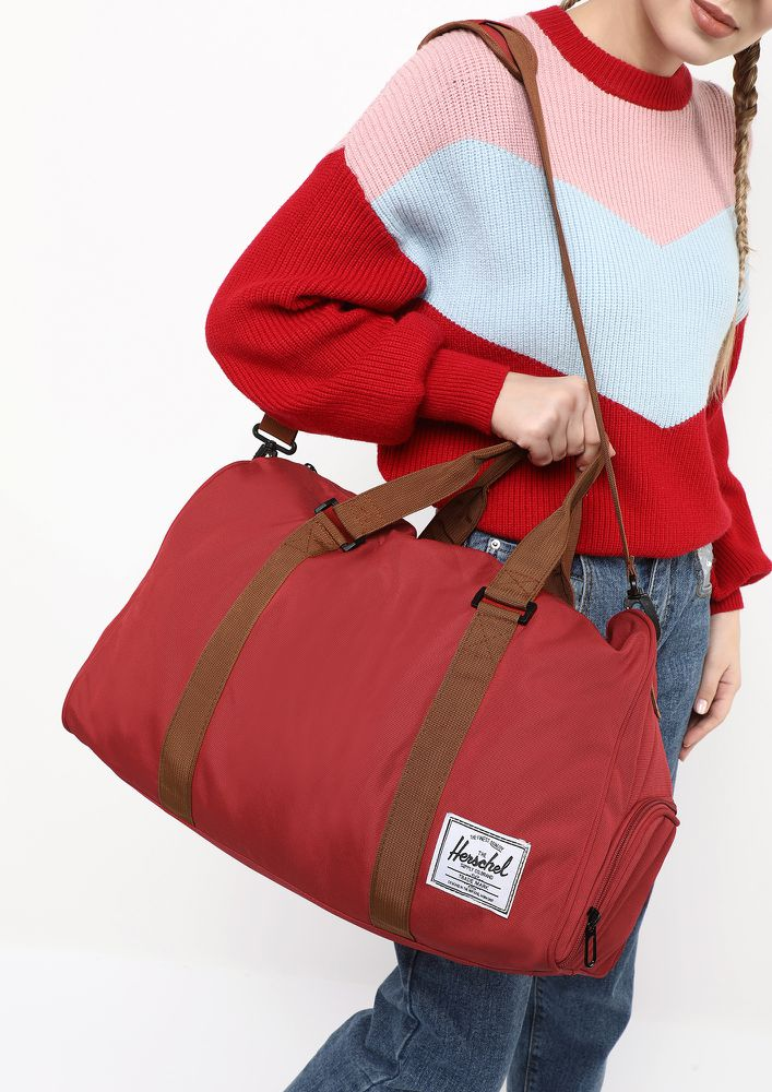 ALL WORKED UP RED DUFFLE BAG